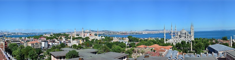 Blick auf Istanbul in der Türkei