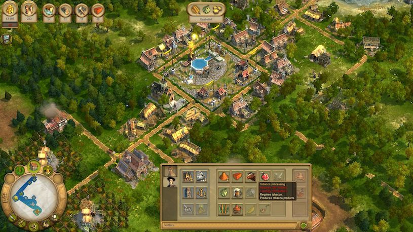 Screenshot aus dem Aufbaustrategiespiel Anno 1701