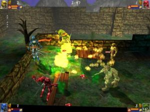 Four Little Warrior Screenshot aus dem Spiel heraus