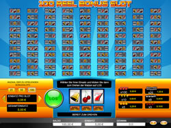 100 Reel Bonus Slot Screenshot 1