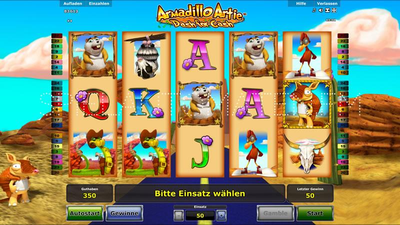 armadillo artie spielen