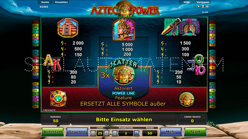 aztec power spielen
