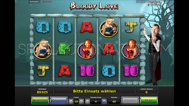 bloody love video slot