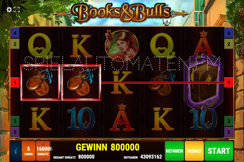 books and bulls spielen