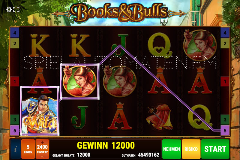 books and bulls spielen
