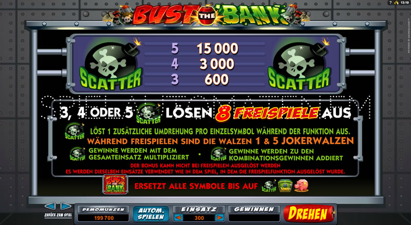 Bust The Bank slot - Spela gratis direkt online