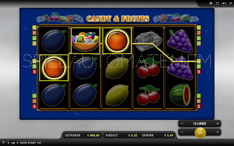 candy and fruits spielen