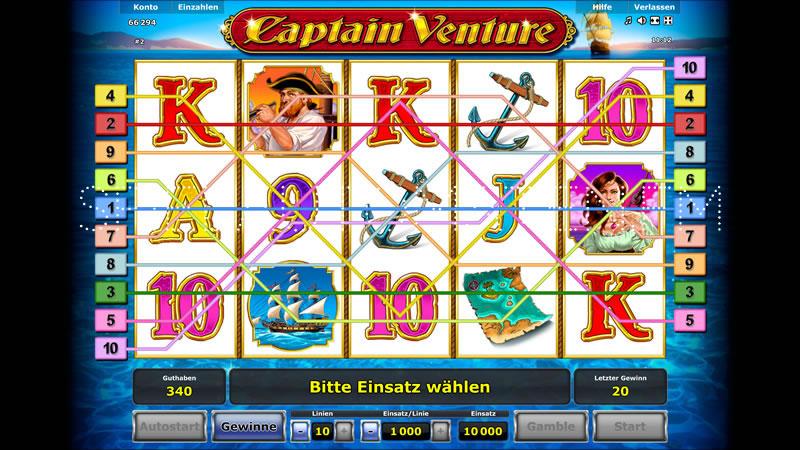 Captain Venture Spielautomat - Jetzt online kostenlos spielen