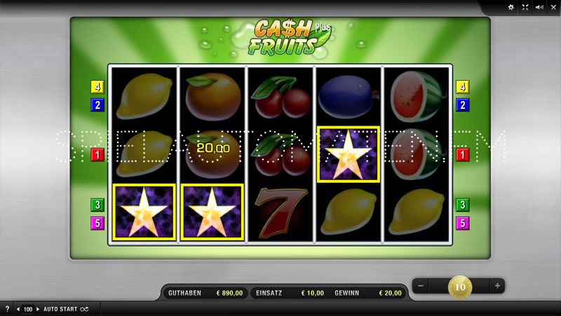 cash plus fruits spielen