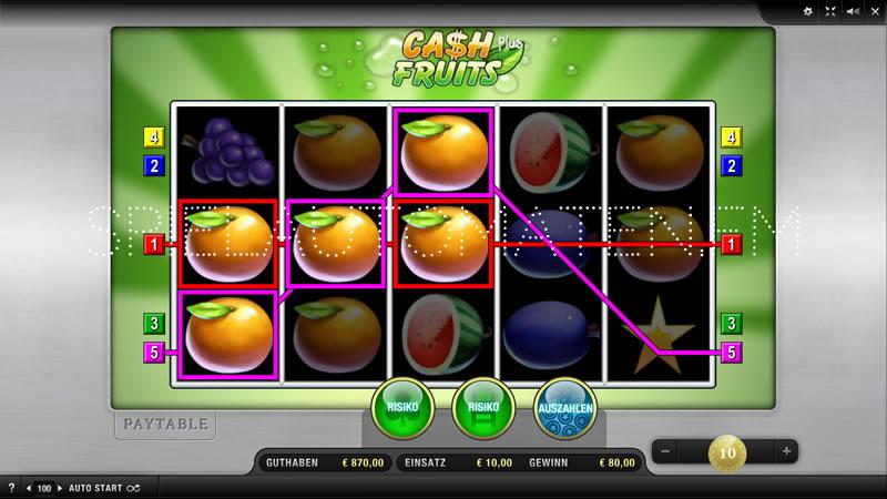 cash plus fruits spielen