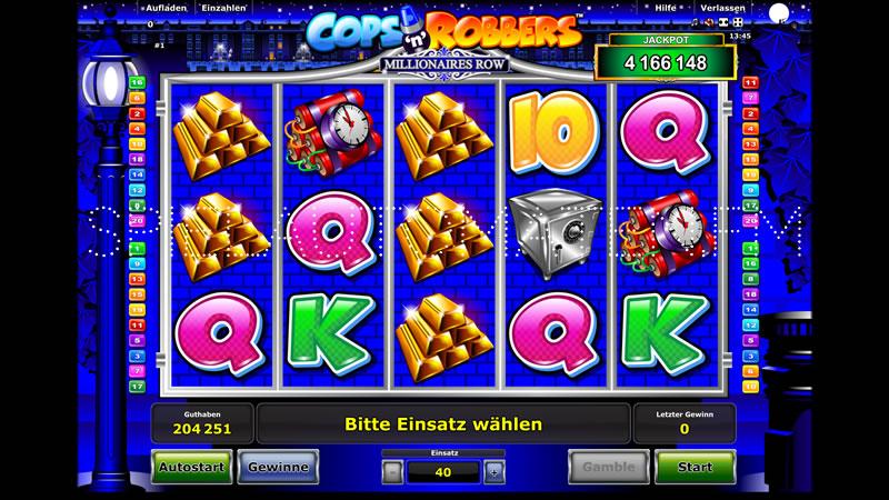 cops n robbers millionaires row spielen