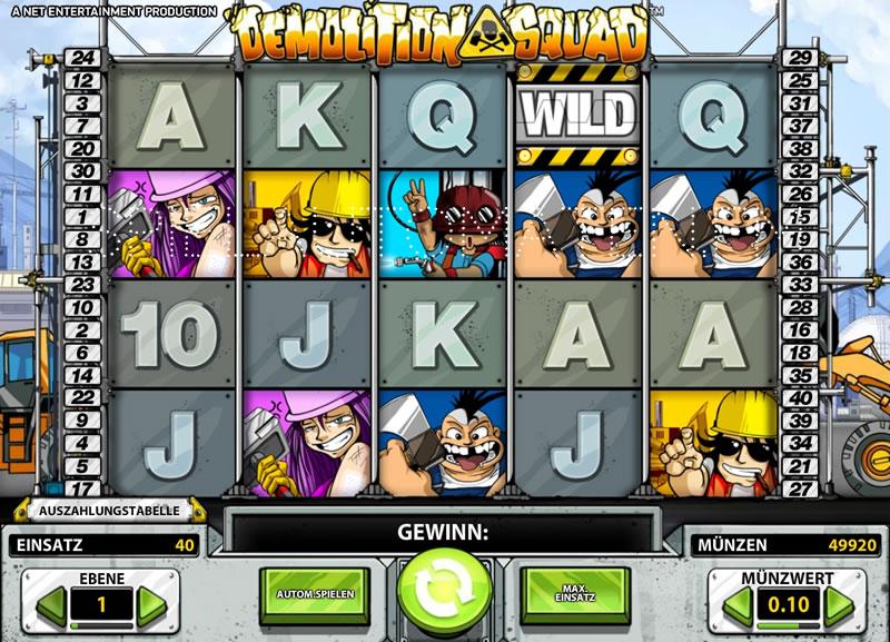 Demolition Squad - Jetzt Online-Slots Kostenlos Spielen