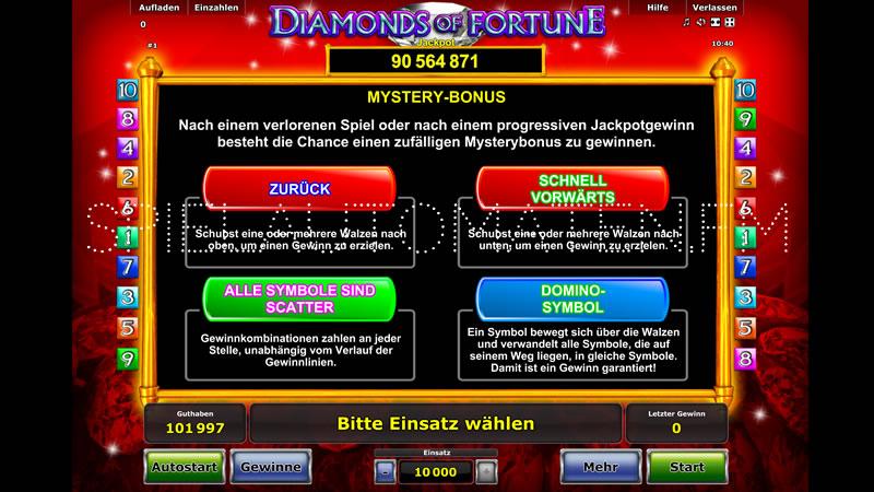 diamonds of fortune spielen