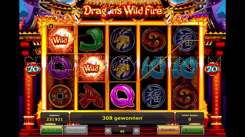 dragons wild fire spielen