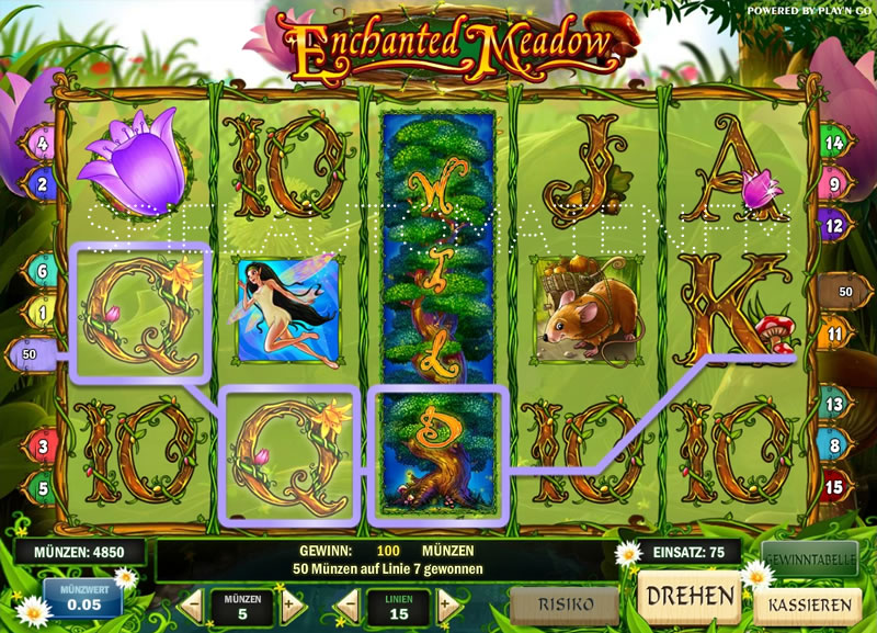 enchanted meadow spielen