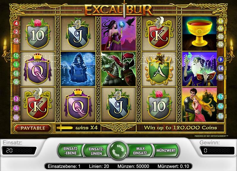 excalibur spielen