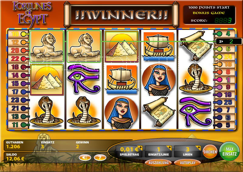Spiele Fortunes Of Egypt - Video Slots Online