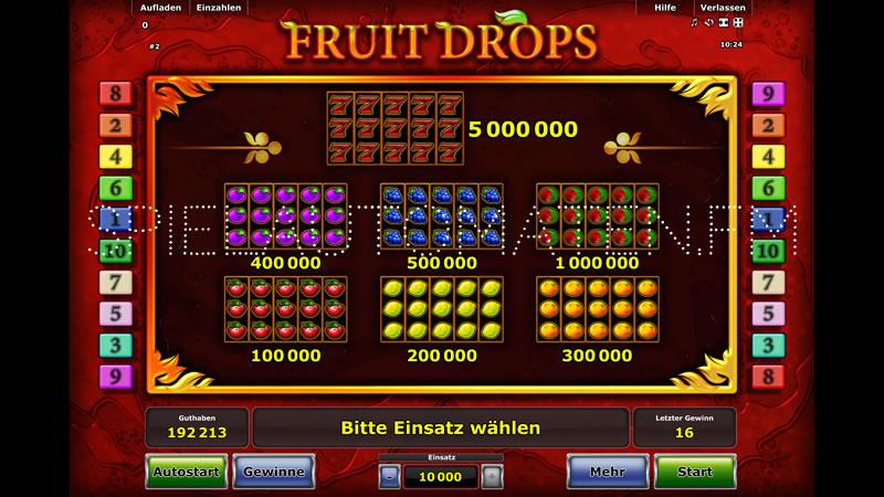 fruit drops spielen