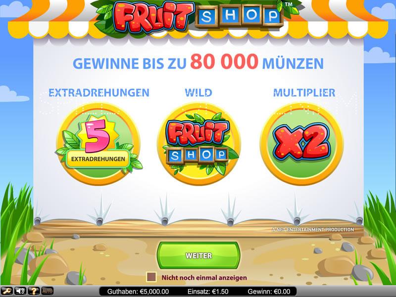 Fruit Shop kostenlos spielen | Online-Slot.de
