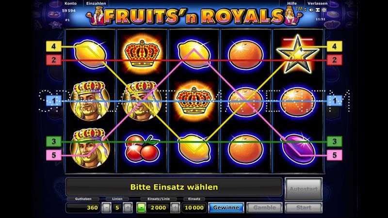 Fruits N Royals Slots-Spiel - Jetzt kostenlos spielen!