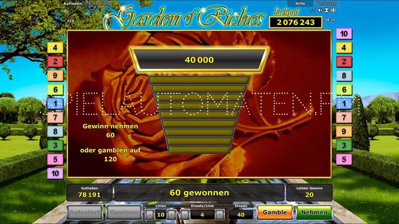 garden of riches spielen
