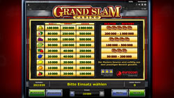 Grand Slam Casino Screenshot 3