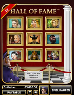 Hall of Fame Screenshot 1