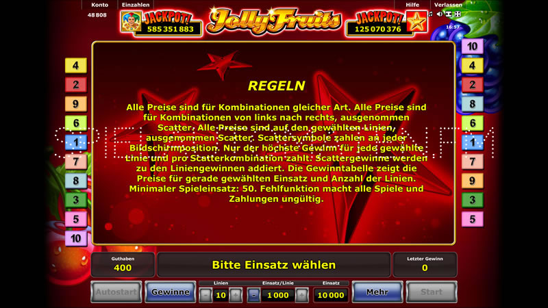 top online casino spiele fruits