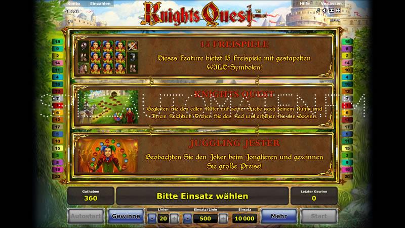 knights quest spielen