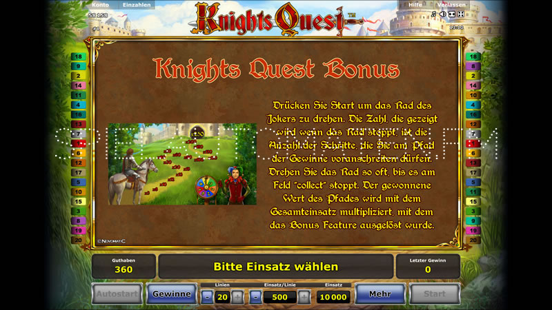 knights quest spielen