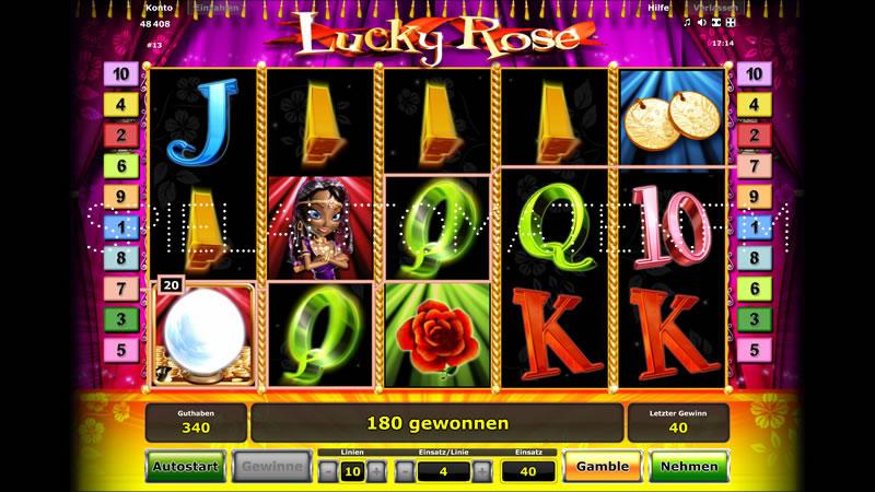 lucky rose spielen