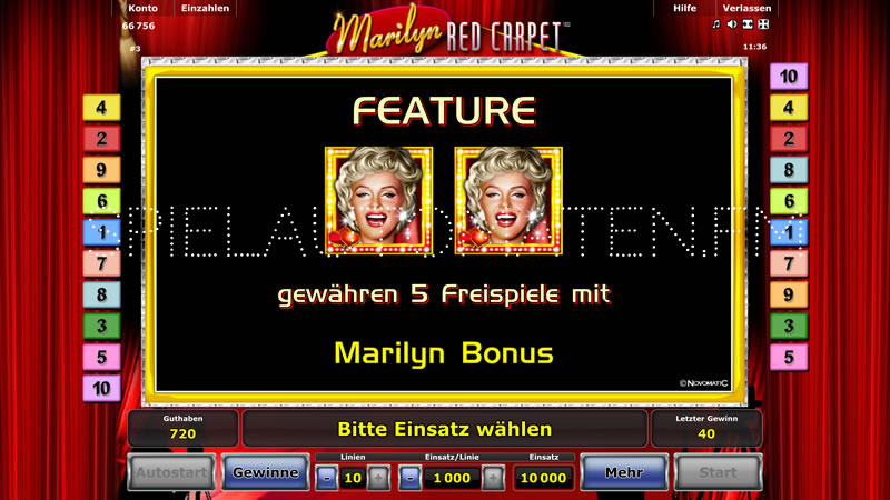 marilyn red carpet spielen