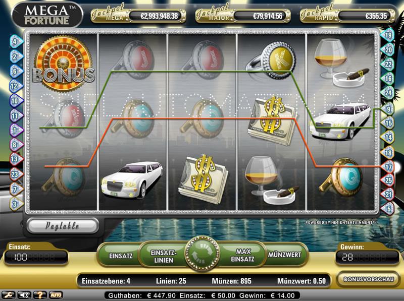 mega fortune spielen