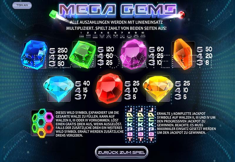 mega gems spielen