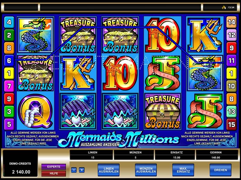 Der Slot Mermaids Millions –testen Sie das Spiel kostenlos