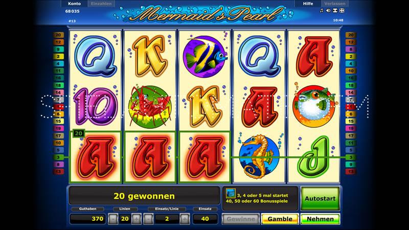 Mermaids Pearl Spielautomat - Jetzt online gratis spielen