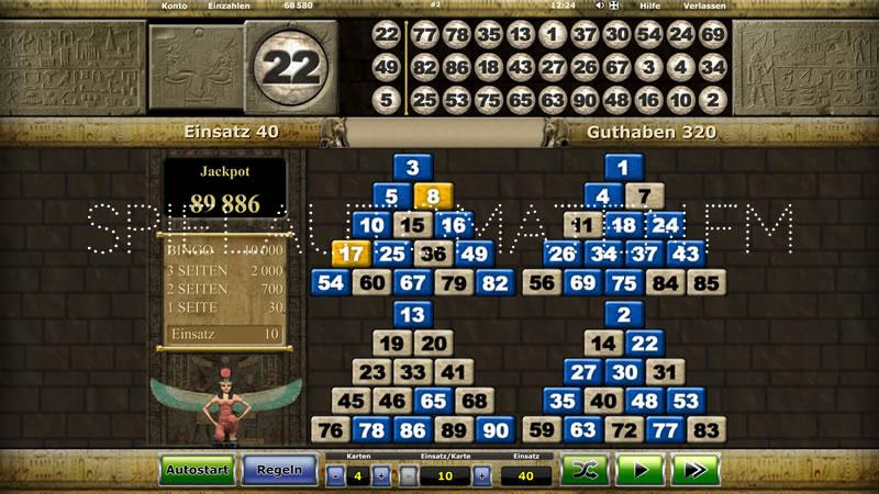 pharaohs bingo spielen