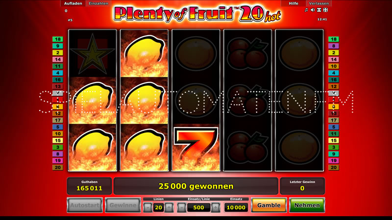 plenty of fruit 20 spielen