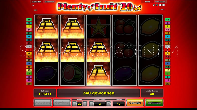 plenty of fruit 20 hot spielen