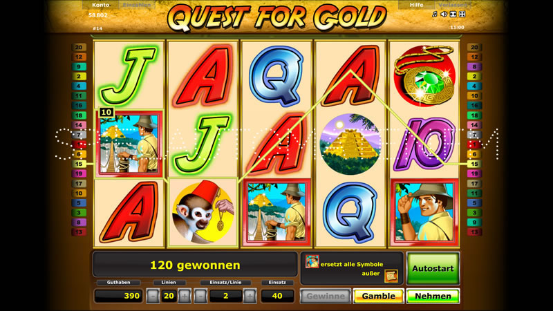 quest for gold spielen