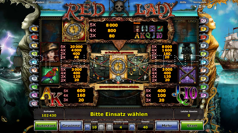 red lady spielen