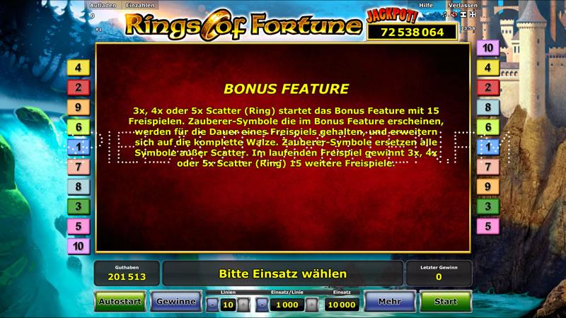 Rings of Fortune Slot - Jetzt online gratis spielen