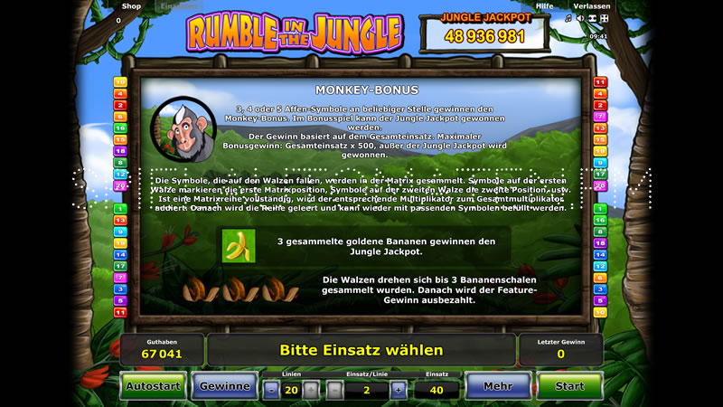 rumble in the jungle spielen