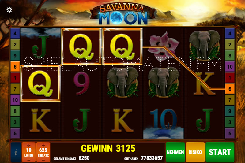 savanna moon spielen
