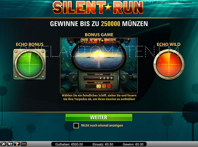 silent run spielen