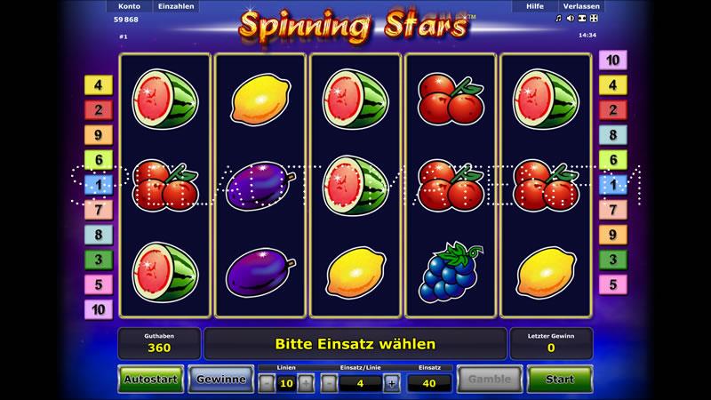 spinning fruits spielen