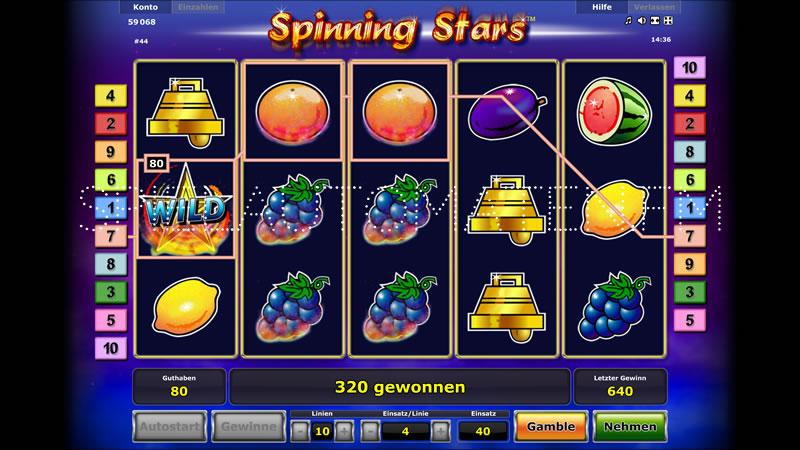 spinning stars spielen
