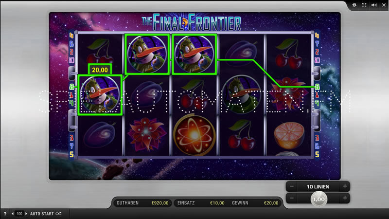 the final frontier spielen