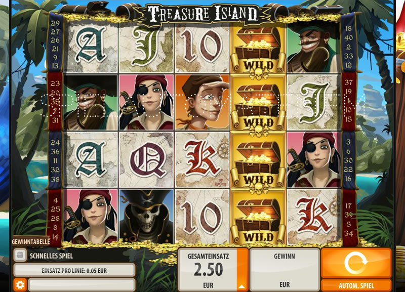 treasure island spiel