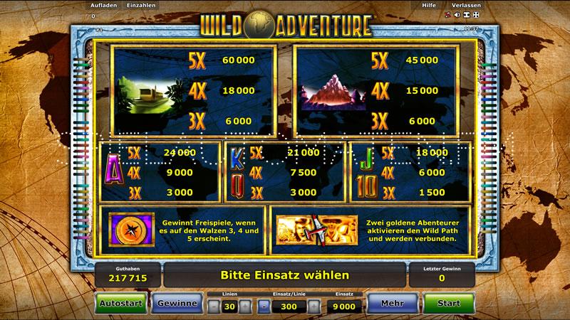 wild adventure spielen